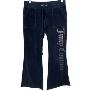 Juicy Couture Y2K Navy Velour Sweatpants
